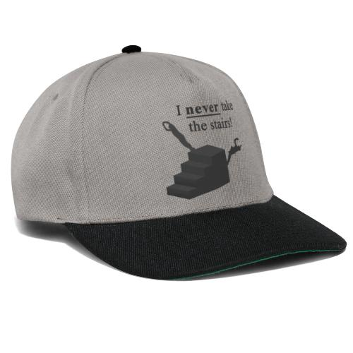 I Never Take The Stairs Grey Parkour - Snapback Cap