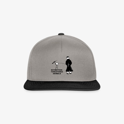 Pissing Man against hunting for endangered animals - Snapback Cap
