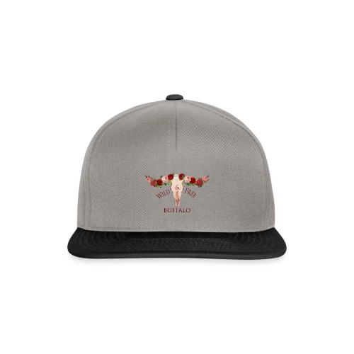 wild and free buffalo - Snapback cap