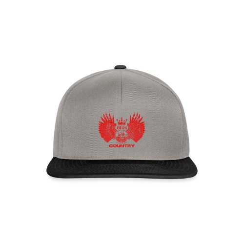 IH KING of the COUNTRY (Red design) - Snapback cap