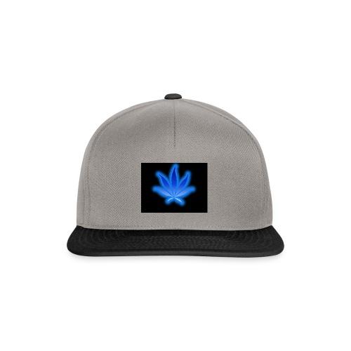 marijuana leaf blue 1 - Czapka typu snapback
