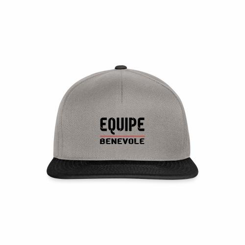 equipe benevole - Casquette snapback