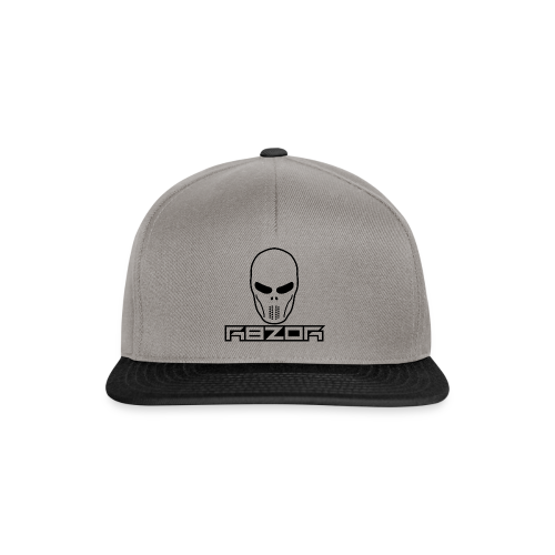 R8ZOR LOGO B/W - Snapback Cap