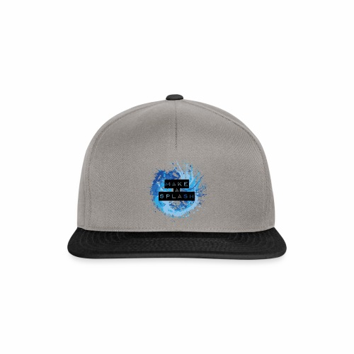 Make a Splash - Aquarell Design in Blau - Snapback Cap