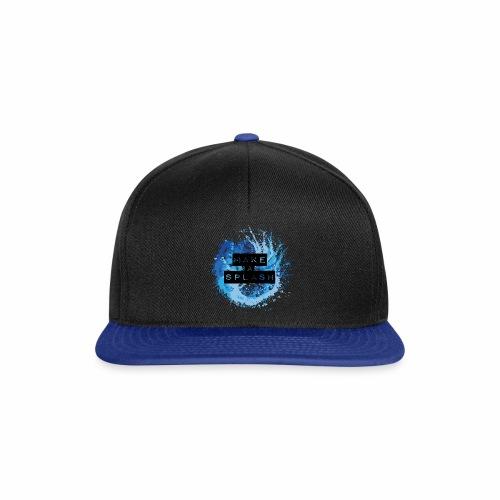 Make a Splash - Aquarell Design in Blau - Snapback Cap