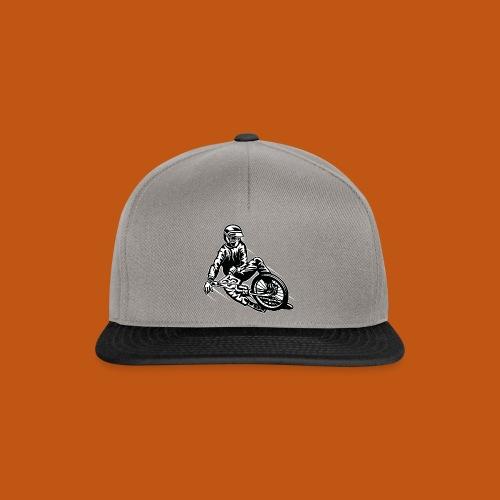 BMX / Mountain Biker 03_schwarz weiß - Snapback Cap