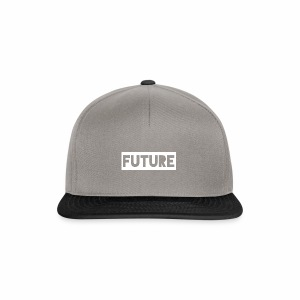 Future Clothing - Text Rectangle (White) - Snapback Cap