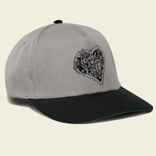 Vergissmeinnicht-Herz - Snapback Cap