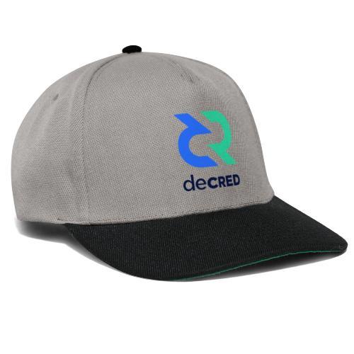 Decred logo vertical color dark - Snapback cap