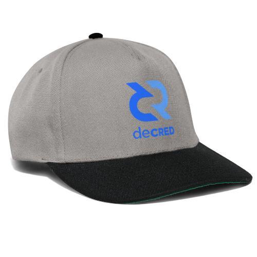 Decred logo vertical blue - Snapback cap