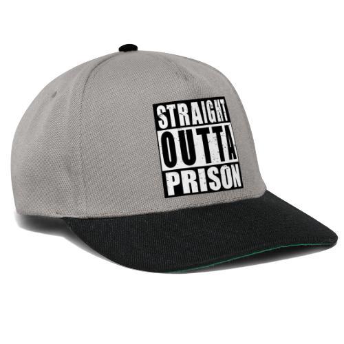 Straight outta Prison Frisch aus d. Gefängnis - Snapback Cap