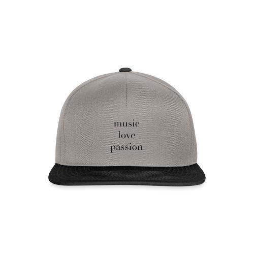music love passion - schwarz - Snapback Cap