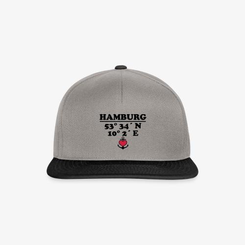 HAMBURG Koordinaten Anker 2c A / Längengrad - Snapback Cap