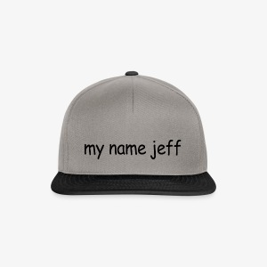 my name jeff - Snapback Cap