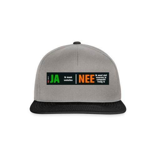 Ja ik maak websites - Snapback cap