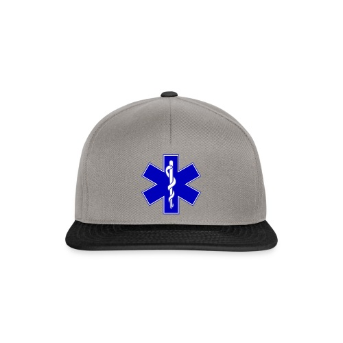 2000px Star of life2 svg png - Snapback Cap