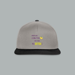 When life gives you lemons use them to detox! - Snapback Cap