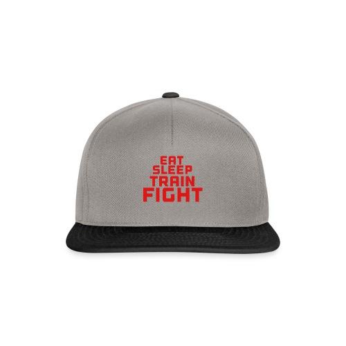 Eat sleep train fight - Snapback Cap