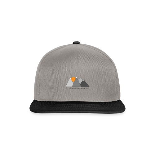 the mountains are calling. - Snapback Cap