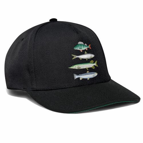 FOUR FISH - Ahven, siika, hauki ja taimen tuotteet - Snapback Cap