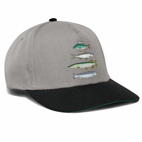 FOUR FISH - Ahven, siika, hauki ja taimen products - Snapback Cap