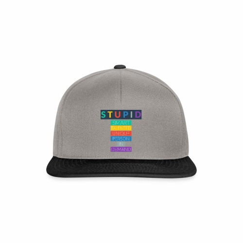 STUPID - Casquette snapback