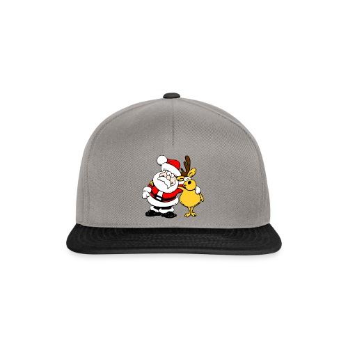 Santa and Reindeer - Snapback Cap