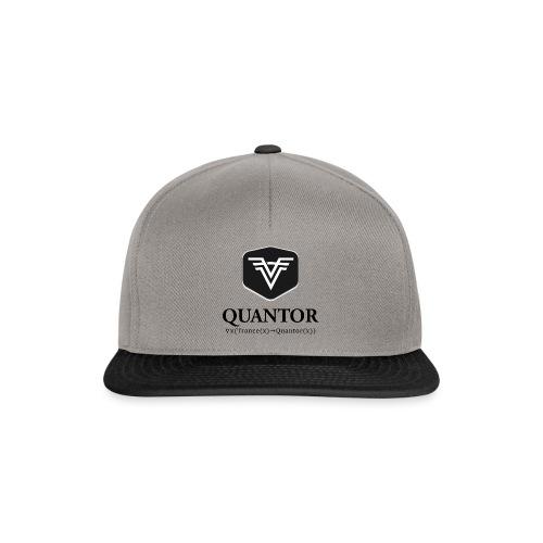Quantor Logo Black - Snapback Cap
