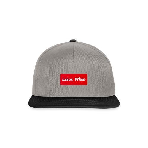 Lxkas_white boxlogo - Snapback Cap