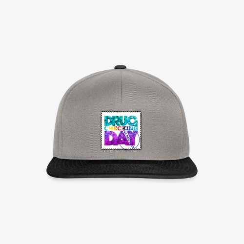 Drug Checking Day blotter - Snapback cap