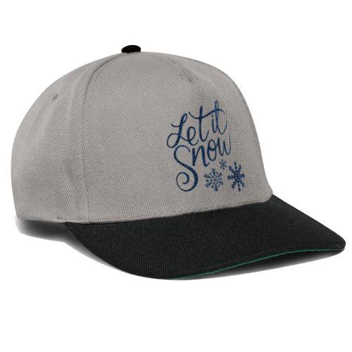 Let il snow Noël New shape fane design vintage - Casquette snapback