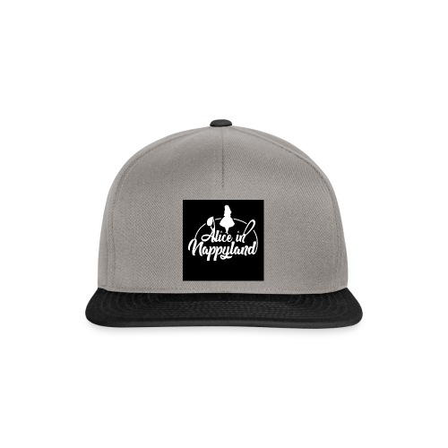 Alice in Nappyland TypographyWhite 1080 - Snapback Cap