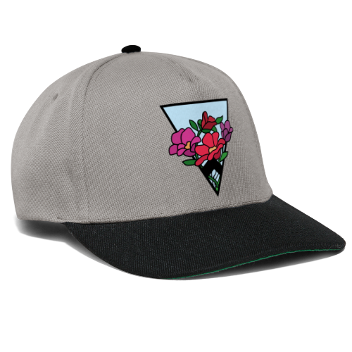 colourful flower bouquet in a triangle - Snapback Cap