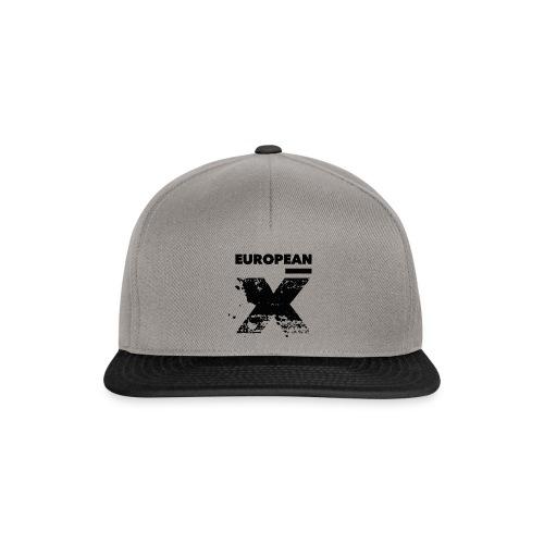 European X / Black Logo - Snapback cap