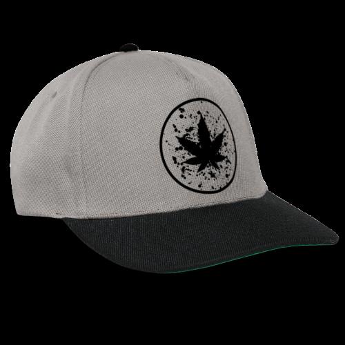 Cannabisblatt Farbklecks im Kreis - Snapback Cap
