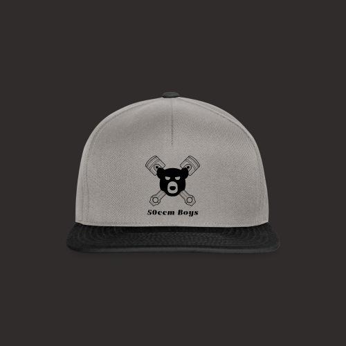 Grosses Logo mit Schrift - Snapback Cap