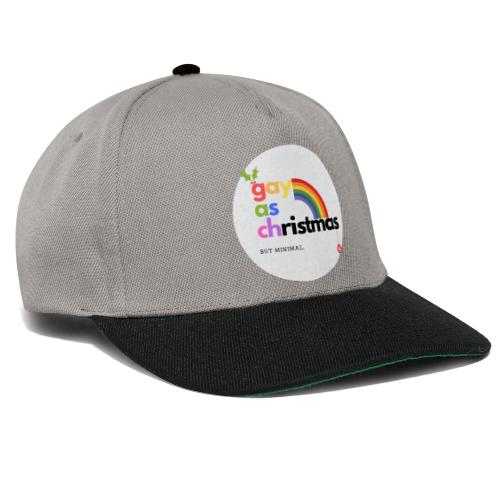 Gay as Christmas but Minimal Circle with Rainbow - Snapback Cap