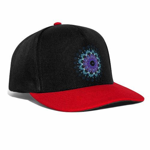 Mørk lilla mandala - Snapback Cap