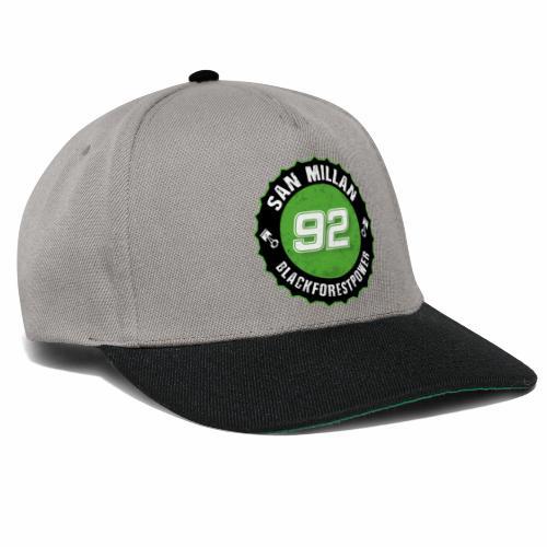 San Millan Blackforestpower 92 rund - schwarz - Snapback Cap