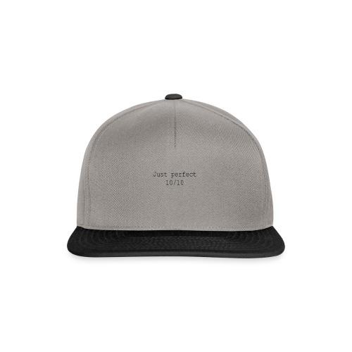 Just perfect black einseitig - Snapback Cap