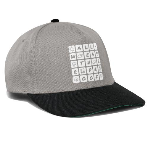 Outdoor - all-weather proof / white-on-black - Snapback Cap