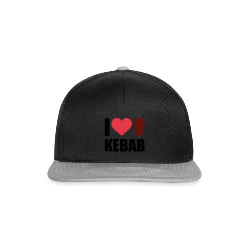 I love Kebab Herz Typografie - Snapback Cap