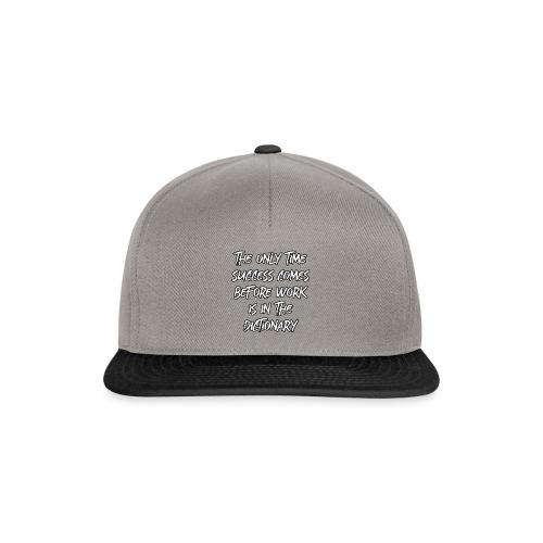 Motivation Erfolg Typografie Harvey - Snapback Cap