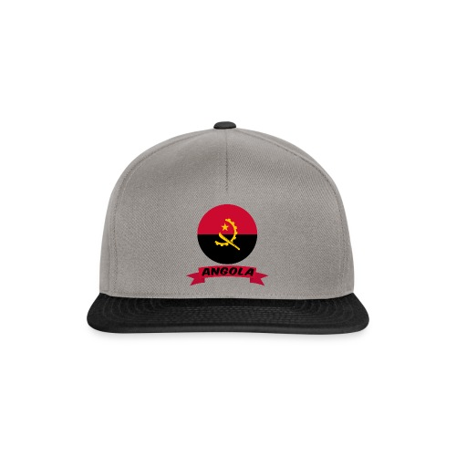 flag of Angola t shirt design ribbon banner - Snapback Cap