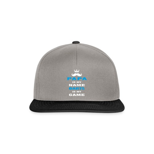 PAPA is my Name, DARTS is My Game, Father's Day - Snapback Cap