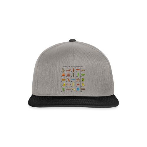 Ägyptisches Alphabet - Snapback Cap