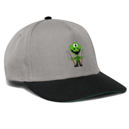 Lustiges Krokodil - Angeln - Angler - Fun - Snapback Cap