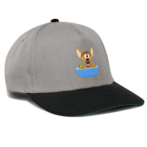 Lustige Hyäne - Badewanne - Kinder - Baby - Fun - Snapback Cap