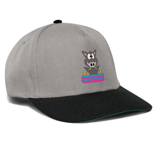 Lustiges Wildschwein - Planschbecken - Shaka - Fun - Snapback Cap