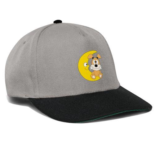 Lustiger Hund - Dog - Knochen - Mond - Tier - Snapback Cap